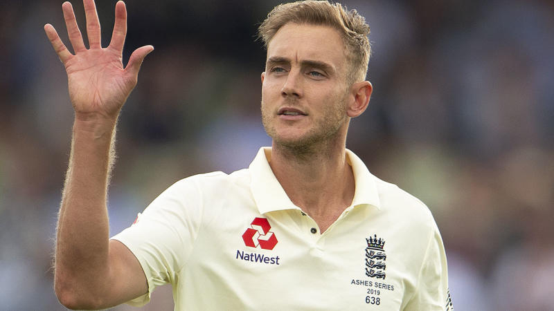 Stuart Broad during the first Ashes Test Match between England and Australia at Edgbaston. (Photo by Visionhaus)