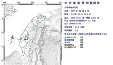 雲林規模3.5地震 最大震度3級