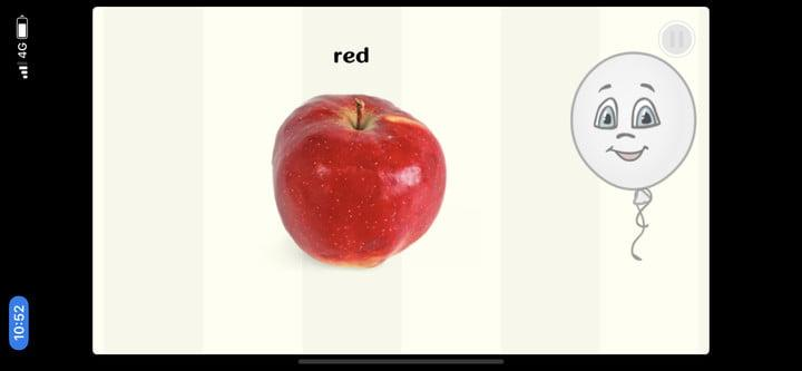 Funny Balloon red apple