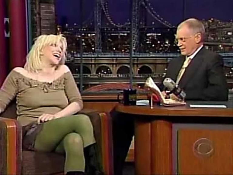 20 Classic 'Late Show' Moments We're Glad We Stayed Up For: Courtney Love gets wild in 2004