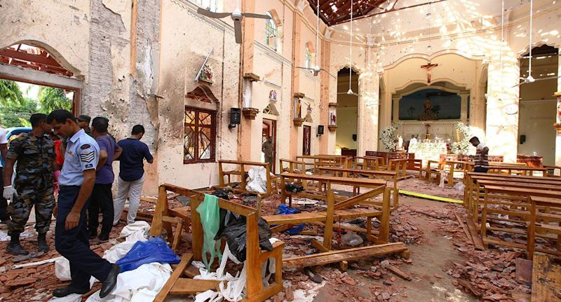 Along with three hotels, a number of churches were targeted including St. Sebastian's Church in Negombo. Source: Getty