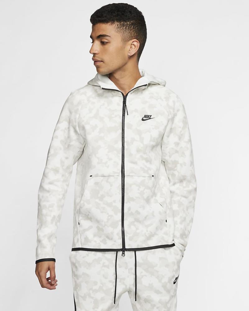 Tech Fleece Men's Full-Zip Printed Hoodie. Image via Nike.