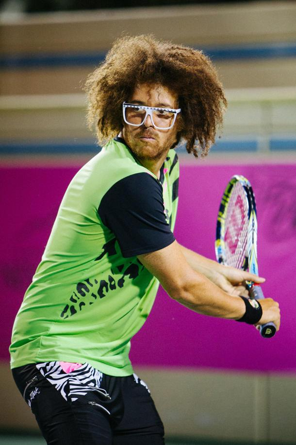 Sexy and He Knows It: LFMAO'S Redfoo Trades Party Rock for Tennis