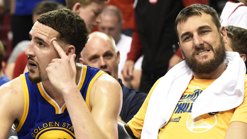 5b0bacfe340 Klay Thompson and Andrew Bogut. (Photo by Steve Dykes Getty Images)