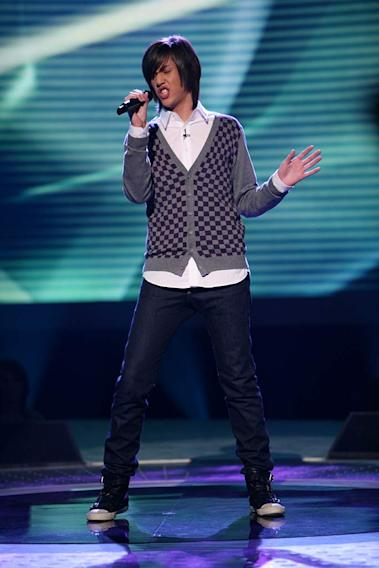 Danny Noriega performs as one of the top 20 contestants on the 7th season of American Idol.