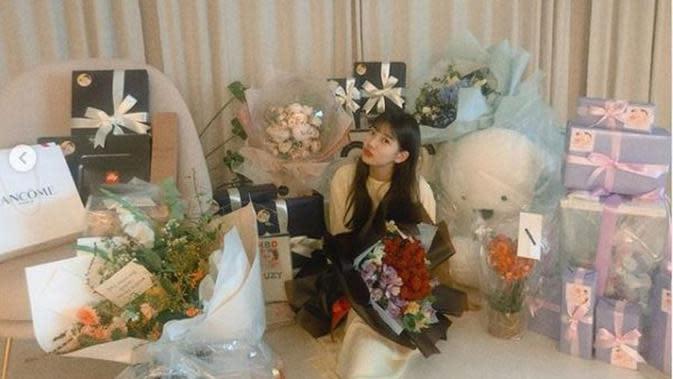 Alasan Dekorasi Perayaan Ulang Tahun Bae Suzy Dikaitkan dengan Lee Min Ho. (dok.Instagram @skuulzsky/https://www.instagram.com/p/CGKcnjFBy9b/Henry)
