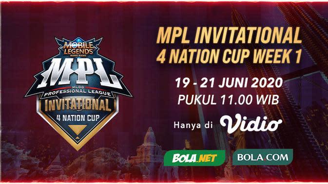 Live Streaming MPL Invitational 4 Nation Cup, Sabtu 20 Juni 2020
