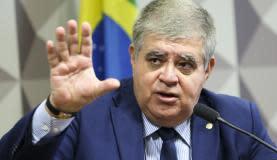 Brasília - O deputado Carlos Marun apresenta seu relatório na Comissão Parlamentar Mista de Inquérito da JBS (Marcelo Camargo/Agência Brasil)