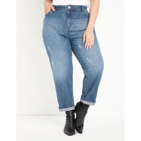 ELOQUII Elements Women's Plus Size Mom Jean (Photo via Walmart)