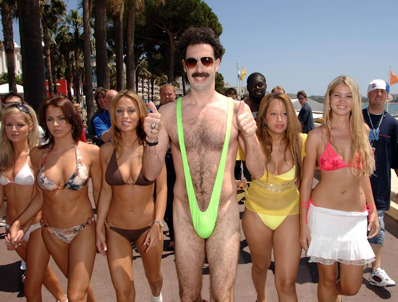 Sacha Baron Cohen as 'Borat' during 2006 Cannes Film Festival was all on fan could see. Photo: Getty Images
