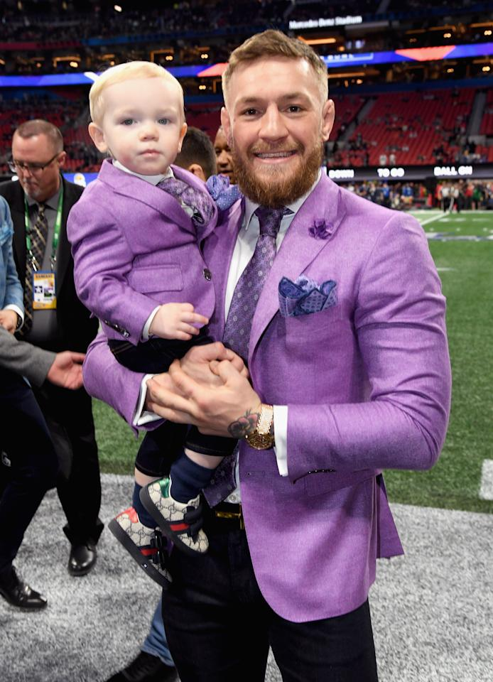 <p><span>Conor McGregor, Irish mixed martial artist, awaits the start of Super Bowl LIII between the New England Patriots and the Los Angeles Rams. Photo: Getty Images</span> </p>