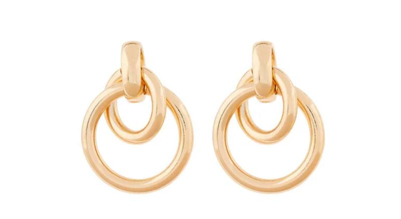 Hooped doorknocker earrings
