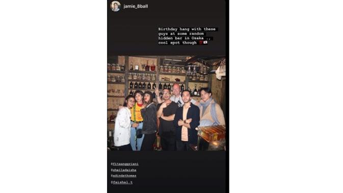 6 Momen Manis Liburan Fita Anggriani di Jepang, Rayakan Ultah Suami (sumber: Instagram.com/jamie_8ball)