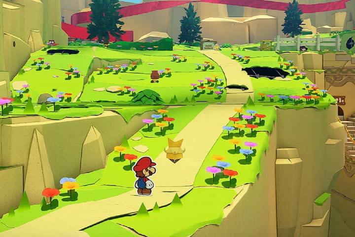 Screenshot of Paper Mario: The Origami King