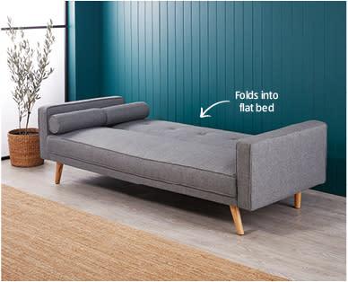 A photo of the $299 Aldi sofa bed.