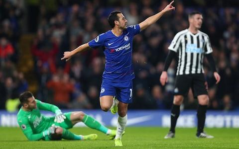 Pedro's smart finish gives Chelsea an early lead at Stamford Bridge - Credit: GETTY IMAGES