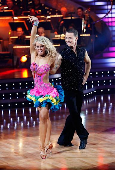 "Ty Murray and Chelsie Hightower perform the Samba to ""Concrete and Clay"" by Martin Plaza on ""Dancing with the Stars."""