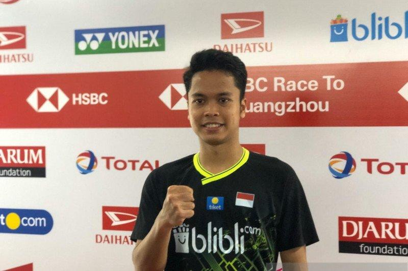 Anthony Ginting terharu raih gelar tunggal putra Indonesia Masters