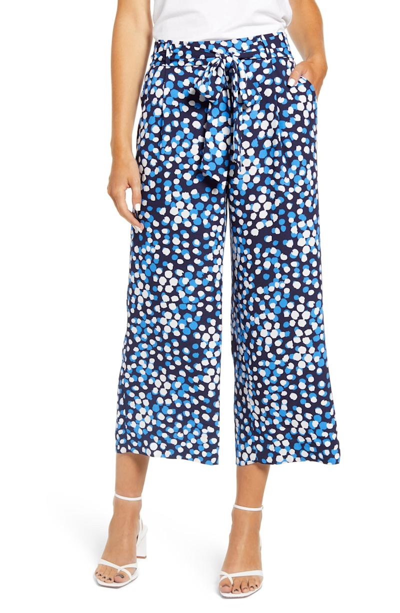 Halogen Wide Leg Crop Pants. Image via Nordstrom.