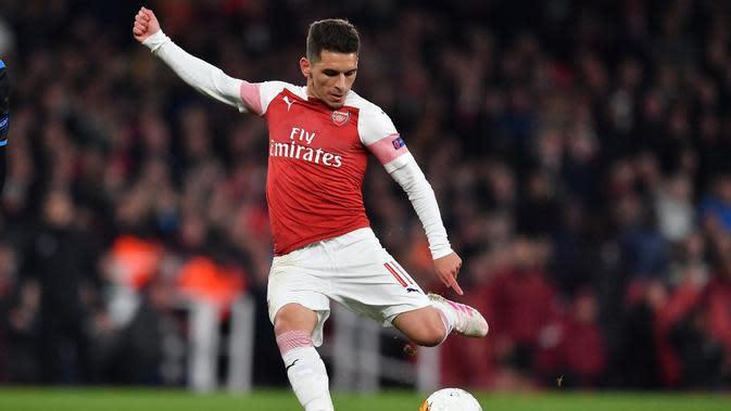 Pemain Arsenal, Lucas Torreira. (AFP/Ben Stansall)