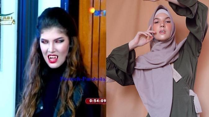 Beda Penampilan 6 Vampir di Sinetron GGS saat Berhijab, Bikin Pangling (sumber: protech-parabola.net dan Instagram.com/mikailapatritz)