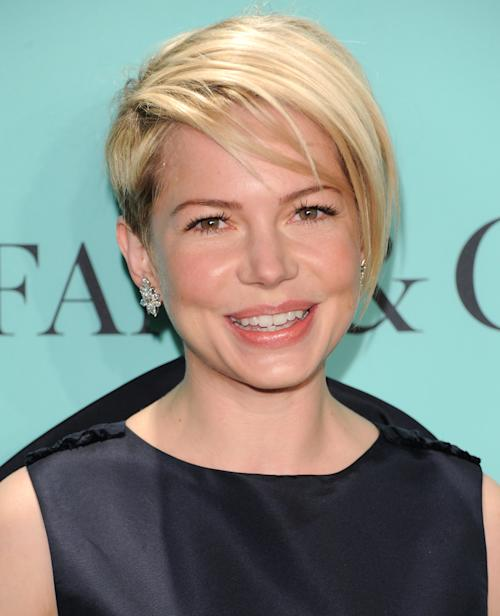 Actress Michelle Williams attends the Tiffany & Co. Blue Book Ball at Rockefeller Center on Thursday April 18, 2013 in New York. (Photo by Evan Agostini/Invision/AP)
