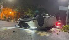 租車酒駕自撞翻車 駕駛竟辯「不是我開的」