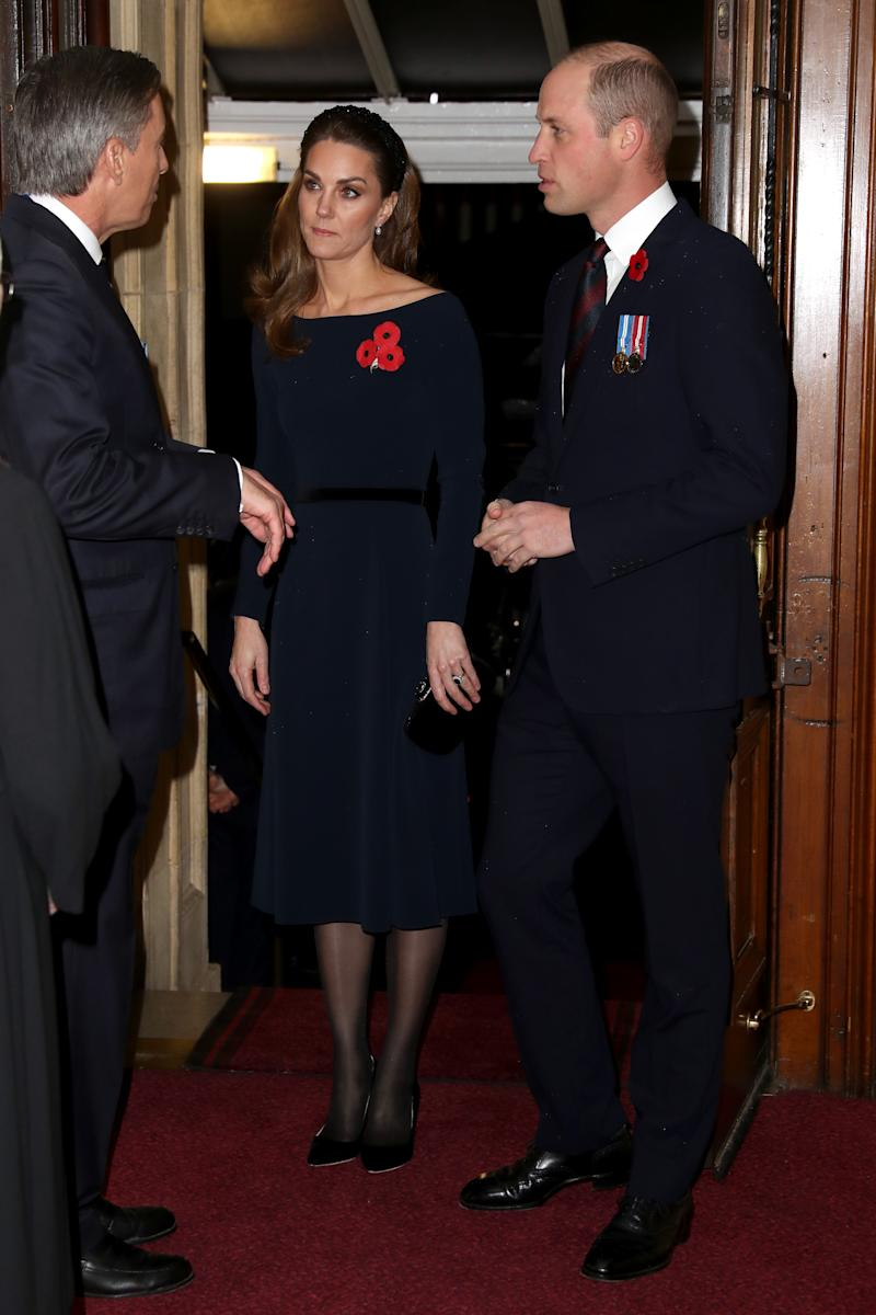 Kate Middleton and Prince William appeared at the annual Royal British Legion Festival of Remembrance in London. (Photo: Chris Jackson - WPA Pool/Getty Images)