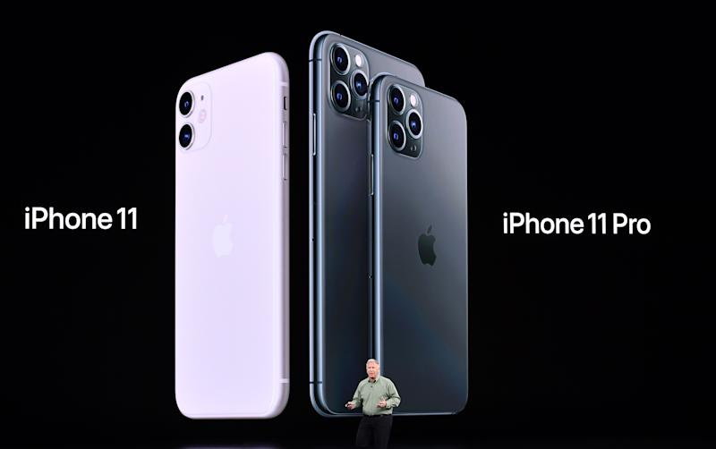 Apple Senior Vice President of Worldwide Marketing Phil Schiller introduces the new iPhone11 and iPhone 11 Pro during a product launch event at Apple's headquarters in Cupertino, California.