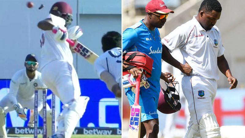 Darren Bravo was concussed after being struck by a bouncer.