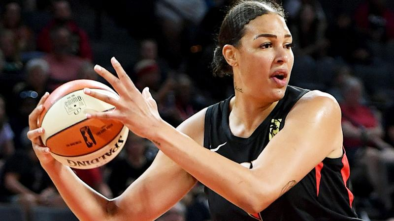 Liz Cambage, pictured playing for the Las Vegas Aces in the WNBA, has not been shy to discuss her experiences with racism.