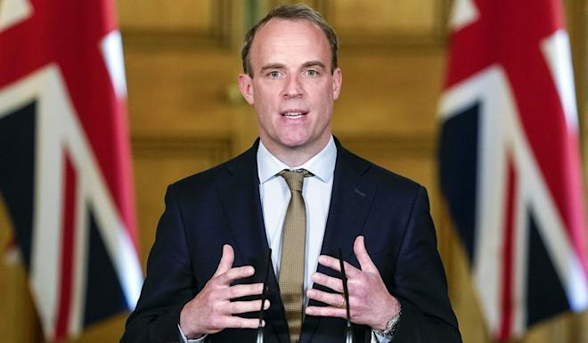 British Foreign Secretary Dominic Raab says he hopes China will change its mind on the national security law for Hong Kong. Photo: EPA-EFE