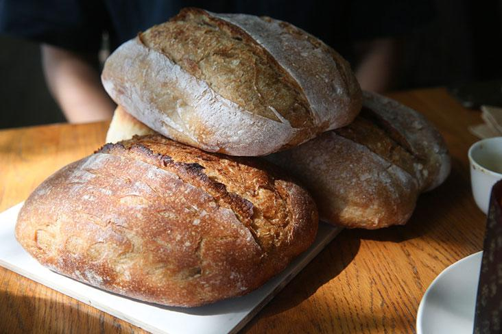 Various sourdough bread made using a variation of flours to give you different textures