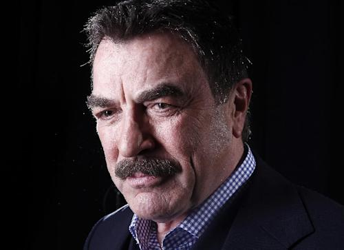 FILE - This March 21, 2012, file photo Actor Tom Selleck poses for a portrait in New York. A Southern California water district has accepted Selleck's offer of more than $21,000 to settle a lawsuit that accused the actor of taking water he wasn't entitled to for his 60-acre ranch. (AP Photo/Carlo Allegri, File)
