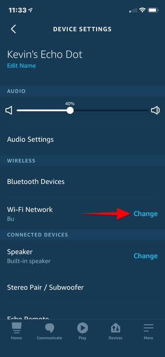 Amazon Alexa iPhone Change WiFi