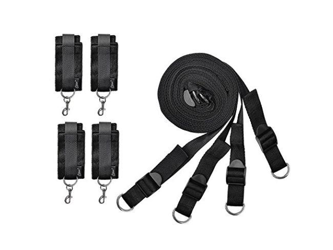 "<a href=""https://www.amazon.com/Utimi-Fetish-Restraint-Bondage-Collection/dp/B00N8C14WU"" target=""_blank"" rel=""noopener noreferrer"">These&nbsp;restraints</a> might <i>look</i> complicated to install, but they're not. They're really simple to use, and set up in a snap. Better yet, when they're not in use, simply tuck them away for your next session."
