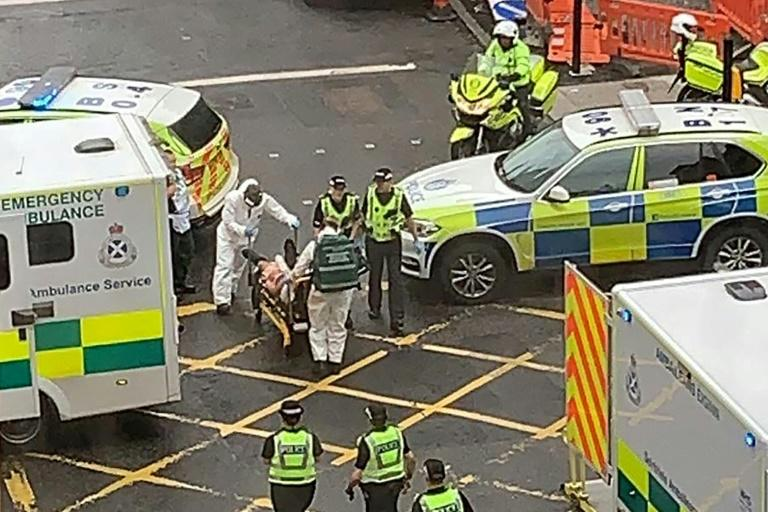 Police say one man is dead and six people were injured in a suspected stabbing attack in Glasgow