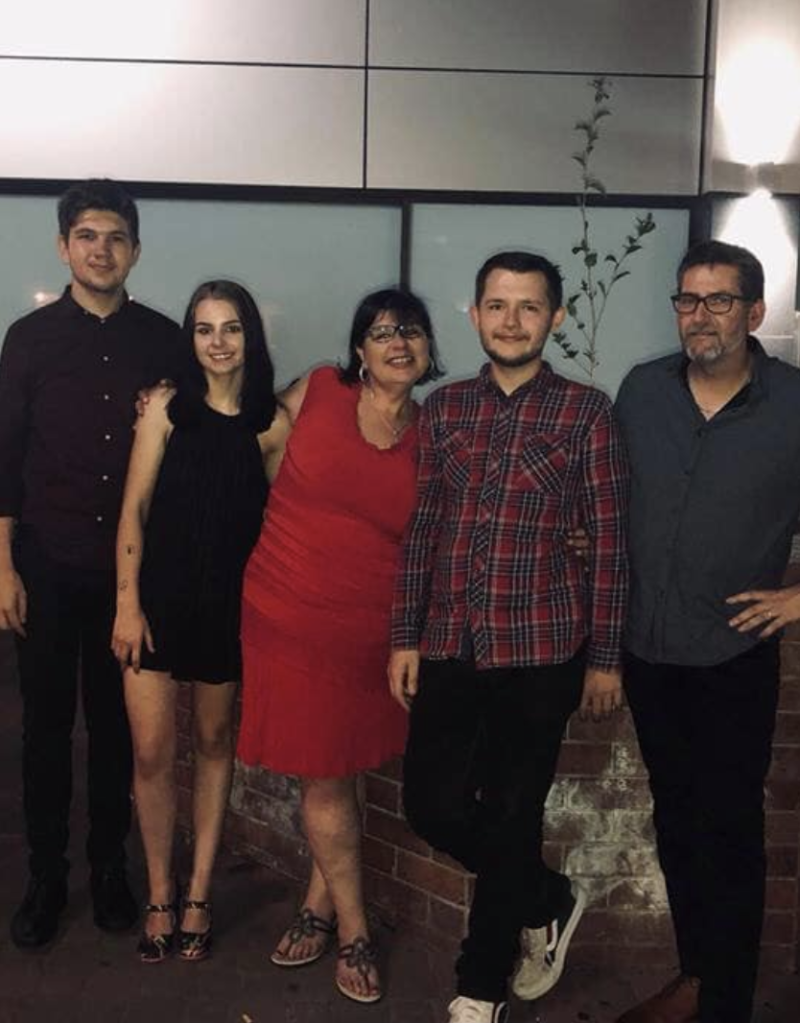 Caitlin pictured with her family. Source: Facebook