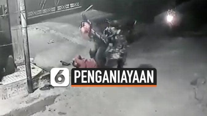 VIDEO: Rekaman CCTV Pria Dianiaya Sampai Babak Belur di Taman Sari