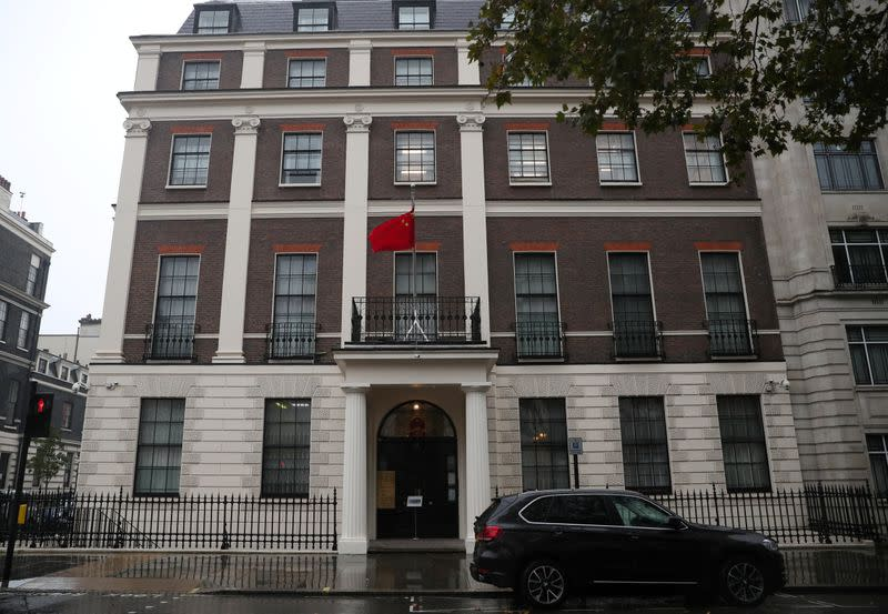 China embassy says Britain is distorting Beijing's diplomatic efforts