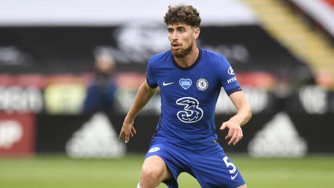 6. Jorginho (57 Juta Euro) - Pemain berusia 28 tahun ini dilabuhkan Chelsea dari Napoli pada 2018. Jorginho dipinang Chelsea dengan harga transfer mencapai 57 juta euro. (AFP/Peter Powell/pool)