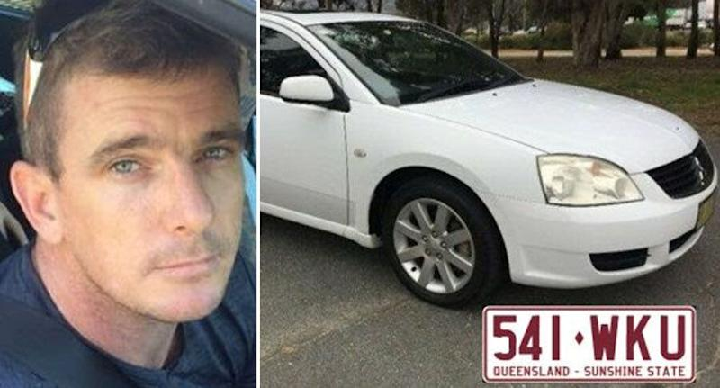 Police believe the pair may have been headed to Townsville in a white 2006 Mitsubishi 380 sedan with Queensland registration 541-WKU. Source: Queensland Police Service