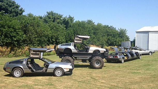 From monster truck to limousine, one DeLorean collector has it all