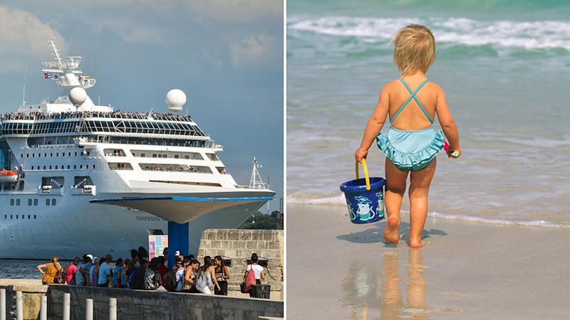 Girl slips from grandfather's arms, falls to her death on cruise ship