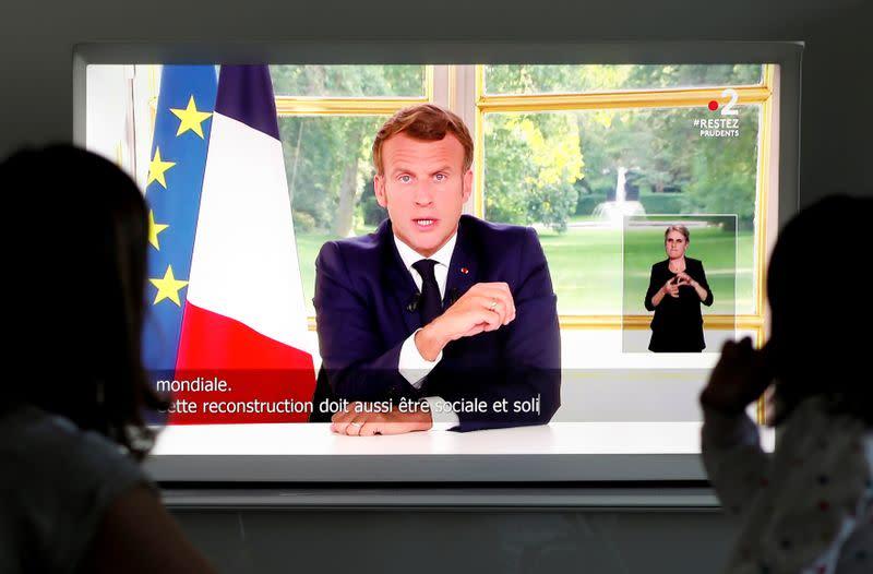 French President Emmanuel Macron's televised address to the nation