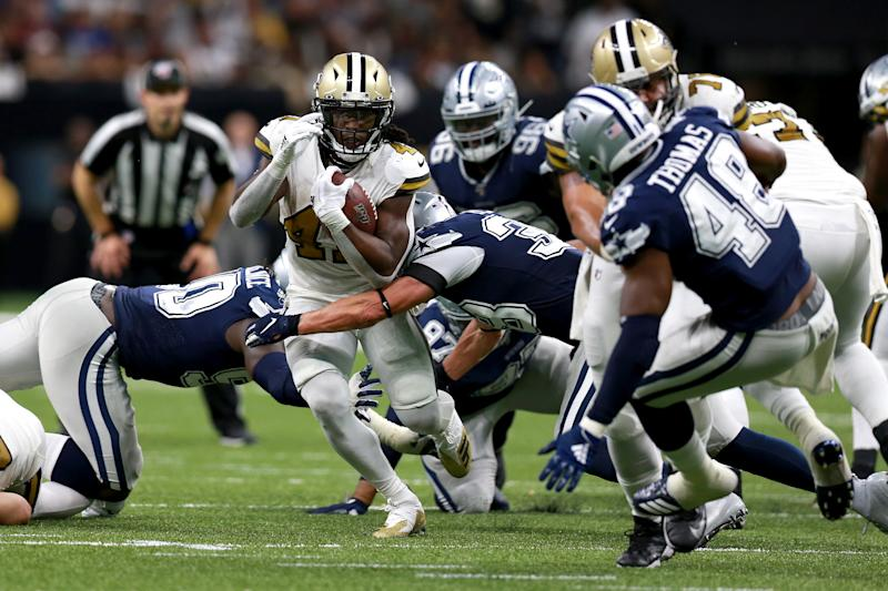 The Saints rolled through Dallas, and plenty of people watched. (Getty)