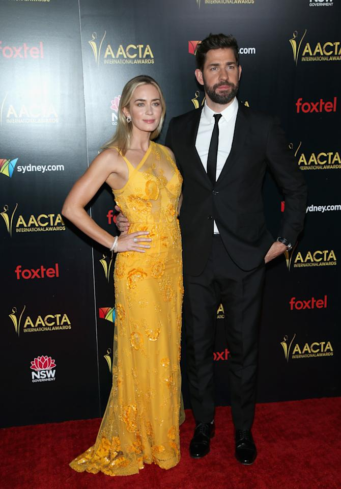<p>She attended the ceremony alongside her husband and A Quiet Place co-star John Krasinksi. Photo: Getty </p>