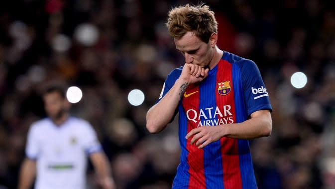 Pemain Barcelona, Ivan Rakitic. (AFP/Josep Lago)