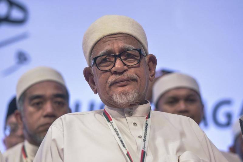 PAS president Datuk Seri Abdul Hadi Awang attends the Himpunan Penyatuan Ummah (Muslim Unity Rally) at the PWTC in Kuala Lumpur September 14, 2019. — Picture by Shafwan Zaidon