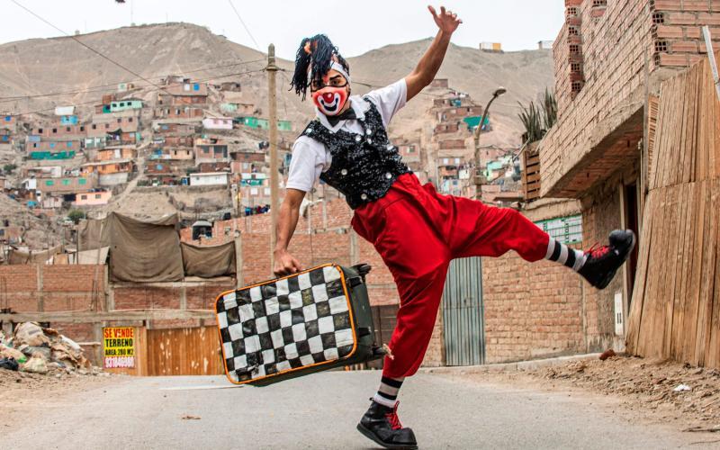 clown in lima - ERNESTO BENAVIDES/AFP